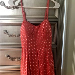 American Eagle polka dot bow mini dress